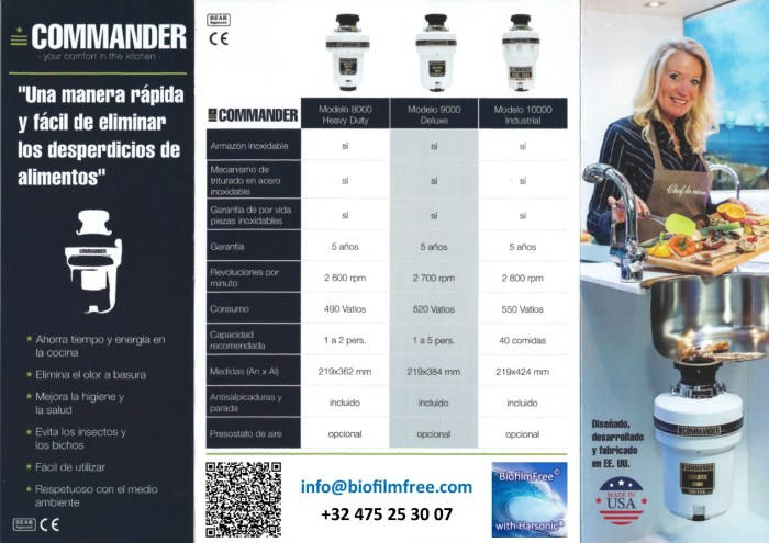 Brochure Commander Spanish BiofilmFree recto