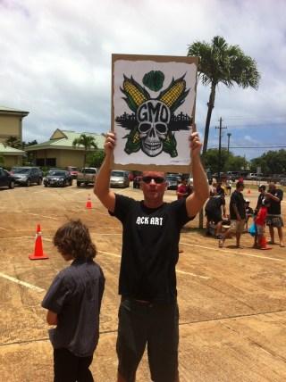 GMO protester