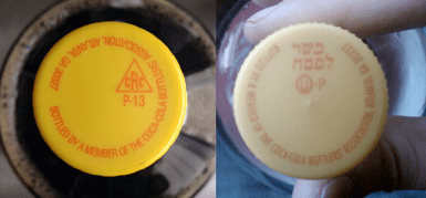 Coke with two different Kosher labels. Images by Leigh Wolf and Noah Jacquemin via Flickr.