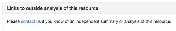 independent analysis
