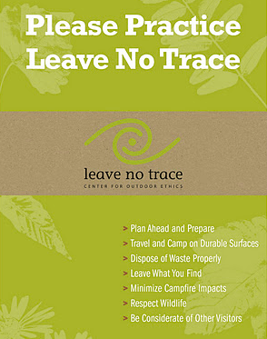 The Leave No Trace Seven Principles from lnt.org