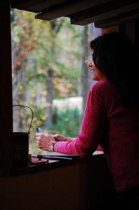 Open window autumn