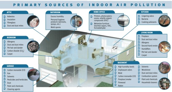 Primary Sources of Indoor Air Pollution
