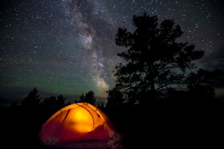 Camping Under the Night Sky