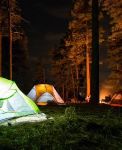 camping outdoors