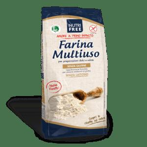 Farina multiuso nutrifree senza glutine e senza lattosio