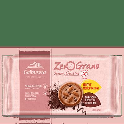 Frollino con gocce di cioccolato galbusera senza glutine e senza lattosio