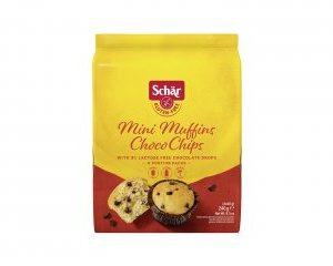 Mini muffins choco chips 240g schar senza glutine e senza lattosio