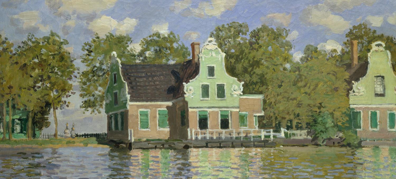 Monet: Häuser am Ufer der Zaan (1871)