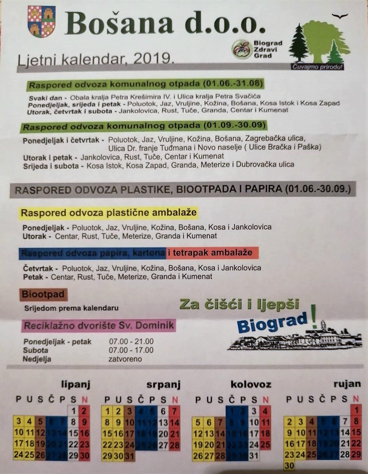 Stanari Ulice dr. Franje Tuđmana u Biogradu zabrinuti, njihova ulica se ne navodi u rasporedu odvoza komunalnog otpada do kraja sezone?!