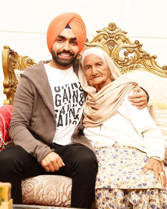 Ammy Virk with his Grand Mother