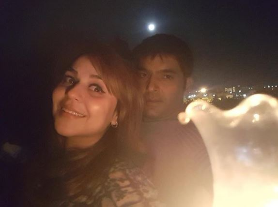 kapil with Wife