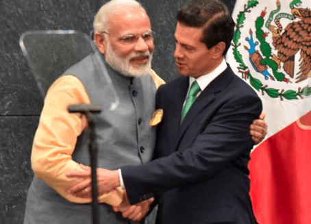 PM Modi with Mexican President Enrique Peña Nieto