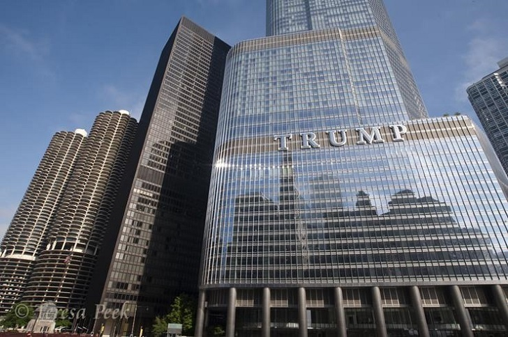 Donald Trump owns the biggest buildings in the world. Trump Tower is one of them.