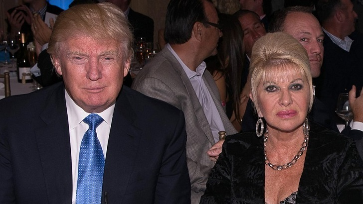 Donald Trump with his first wife Ivana Trump.