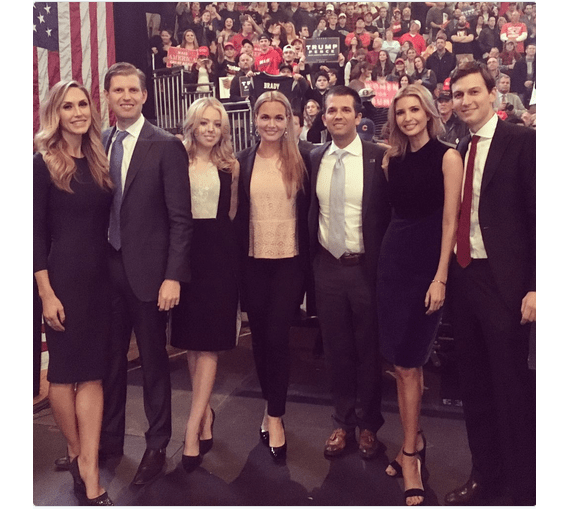 Donald Trump's beautiful family with his children and children in laws. Kellyanne Conway had a opportunity to work with them all closely.