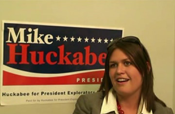 Sarah Huckabee for her father Mike Huckabee's Presidential Campaign.