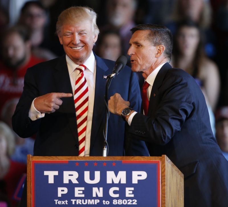 Michael Flynn was an active supporter of Donald Trump in his Presidential campaign.