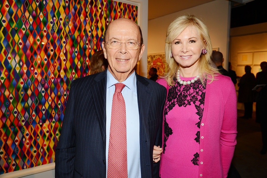 Wilbur Ross Jr and his wife Hilary Geary Ross