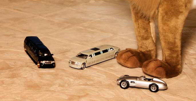 Barron Trump's other toys. He has limousine and Porsche as his toys.