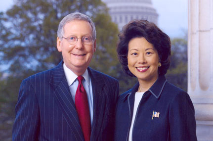 Elaine Chao with husband Mitch Cornell.