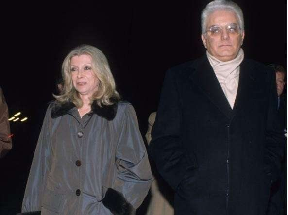 President Sergio Mattarella with his wife Marisa Chiazesse.