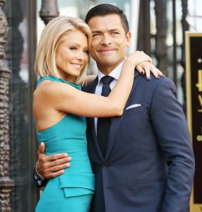 Kelly Ripa with her husband