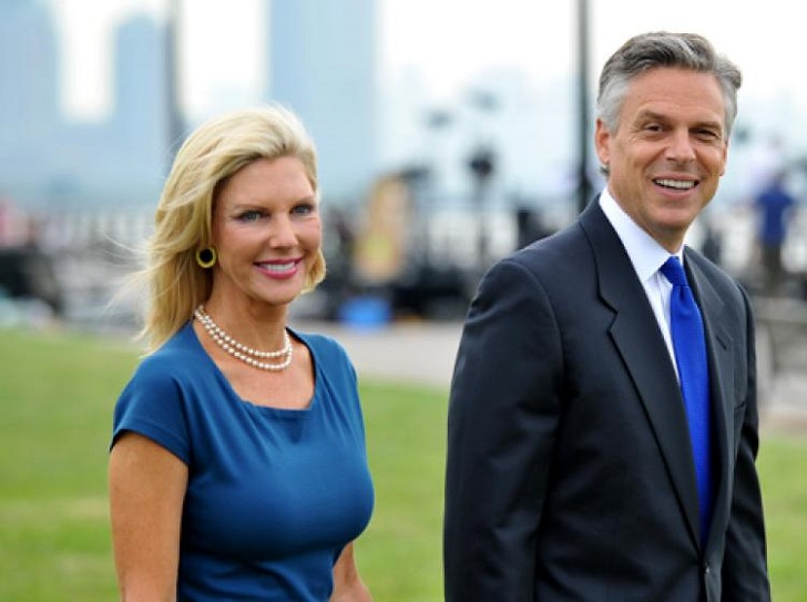 Jon Huntsman Jr along with his wife.