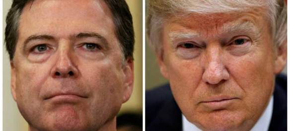 James Comey and the President of the United States, Donald Trump.