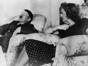 Hitler and Eva Braun, his wife and a long time mistress.