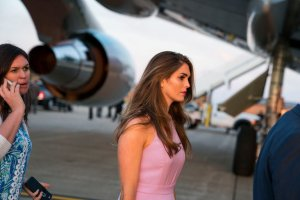Hope Hicks was previously serving as Director of Strategic Communications.