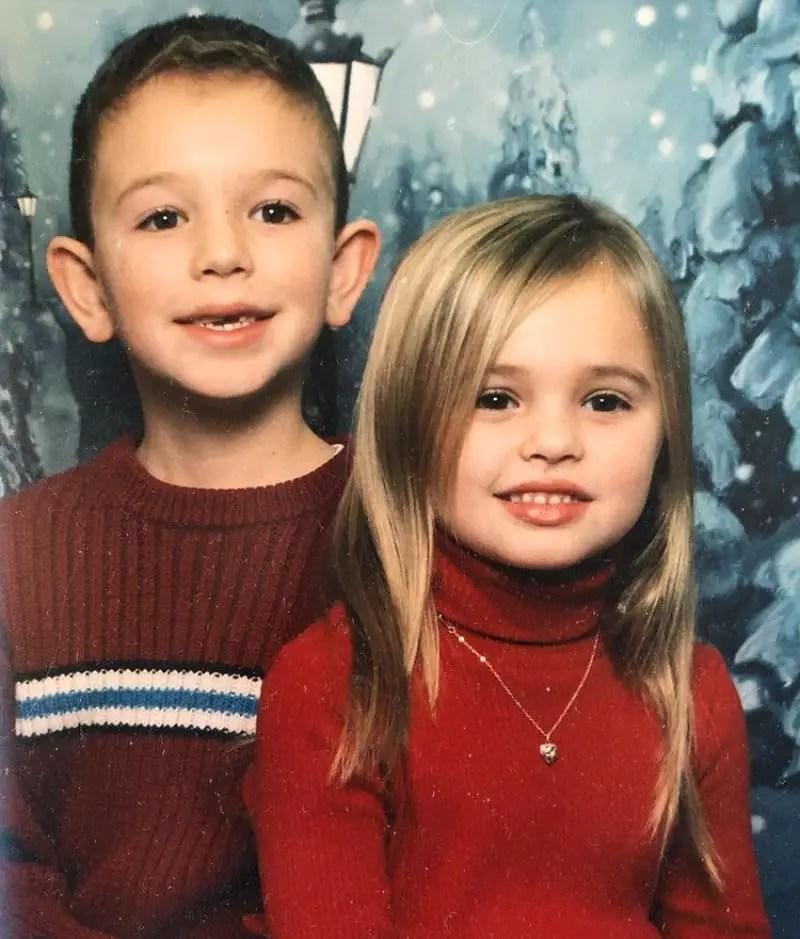 childhood Victoria Baldesarra & brother Alec Baldesarra