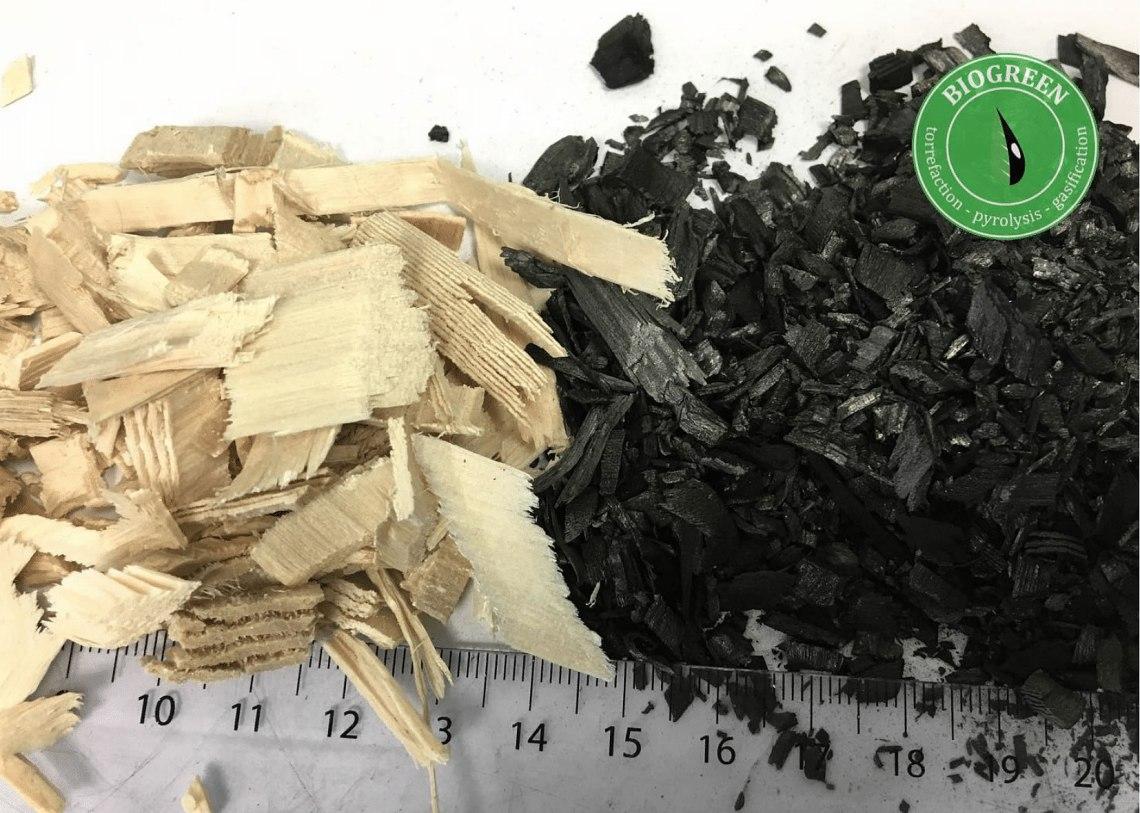 熱分解 木質バイオマス 固形燃料 バイオ炭 Biogreen 2018.1.19