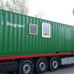 Biogreen-container Biogreen コンテナー熱分解装置 2018.3.21