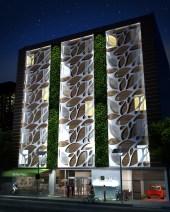 fachada noche bio hotel