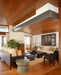 ruang tamu modern dari kayu