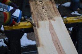 finishing efek kayu terbakar shou sugi ban