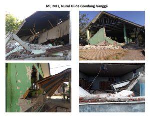 kondisi sekolah pasca gempa lombok