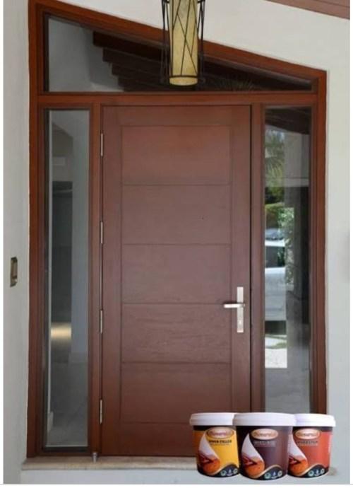 cat kayu untuk pintu