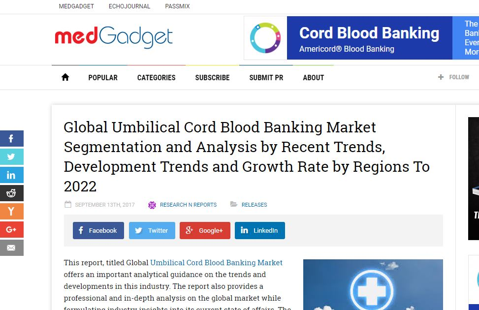 Beware of This Cord Blood Industry Publisher