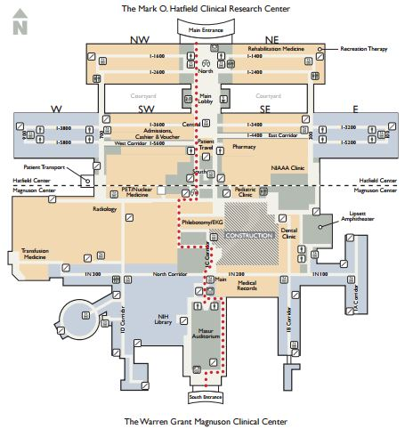 Map of Masur Auditorium at NIH Campus