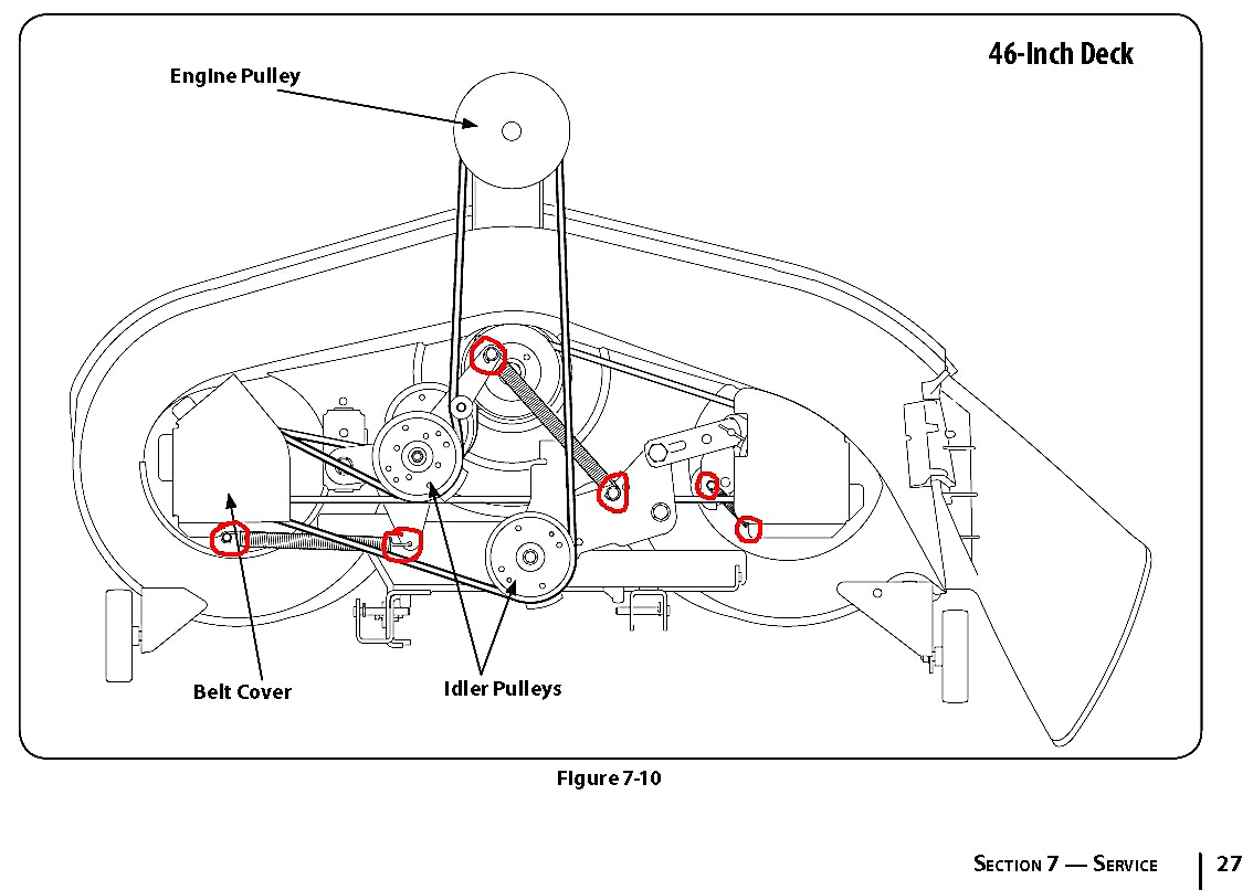 Mtd 46 Inch Deck Belt Diagram