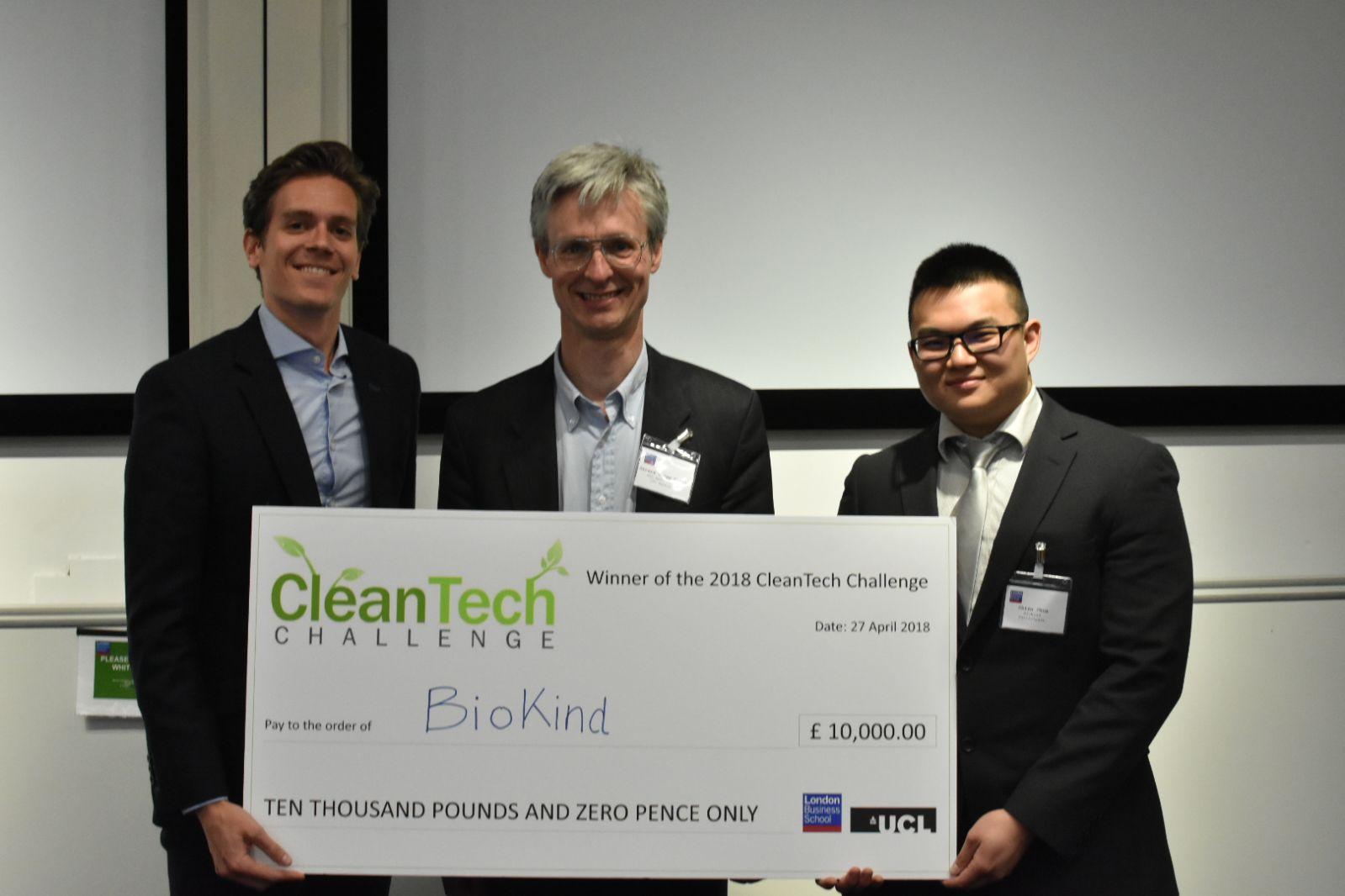 London Business School's CleanTech Challenge 2018 – 1st Place Winner