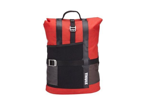 Bisaga i torba 2u1 za gradsku vožnju Thule Pack 'n Pedal crvena 18l
