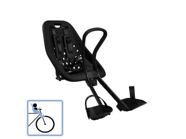 Dječja sjedalica prednja za upravljač Thule Yepp Mini crna