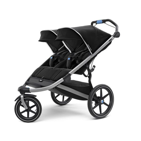 Thule Urban Glide 2 crna dječja kolica za dvoje djece