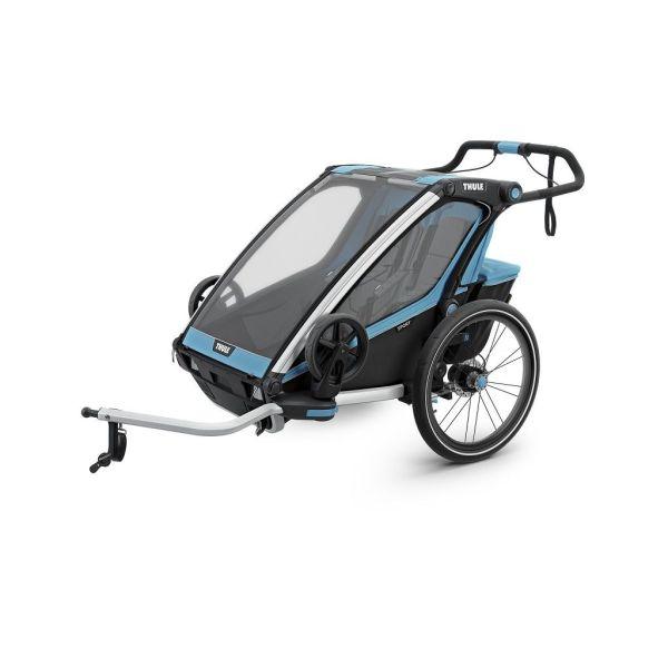 Thule Chariot Sport 2 plavo/crna dječja kolica za dvoje djece