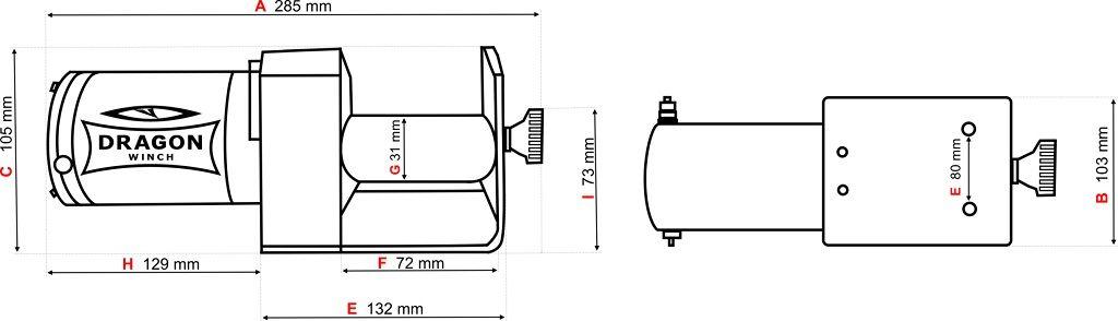 Vitlo Dragon Maverick DWM 2000 ST, 12V, 907kg sa sajlom, bez vodilice, sa žičnim daljinskim