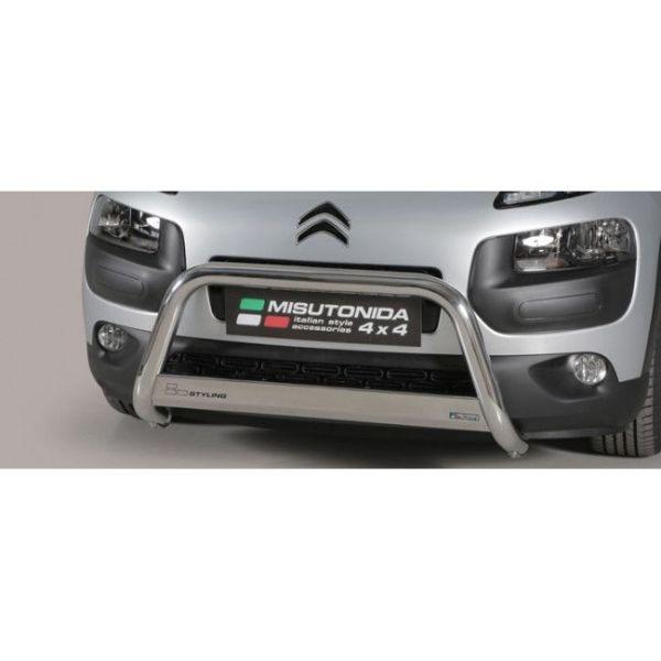 Misutonida Bull Bar Ø63mm inox srebrni za Citroën C4 Cactus 2015+ s EU certifikatom