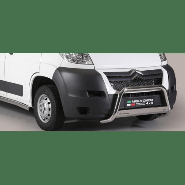 Misutonida Bull Bar Ø63mm inox srebrni za Citroën Jumper 2006-2013 s EU certifikatom